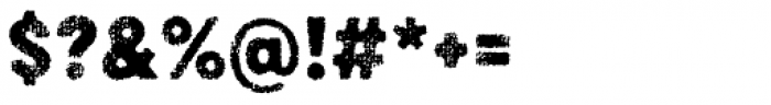 Draft Natural D Black Font OTHER CHARS