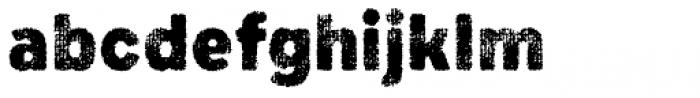 Draft Natural D Black Font LOWERCASE