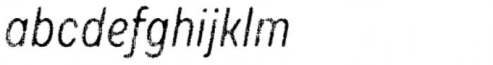 Draft Natural F Regular Italic Font LOWERCASE