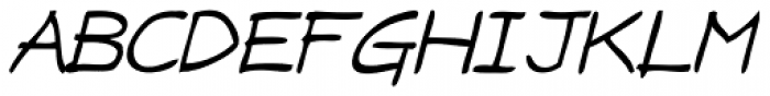 Draft Punk Lite Italic Font UPPERCASE