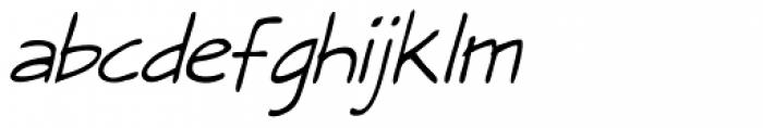 Draft Punk Lite Italic Font LOWERCASE