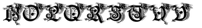 Drago Shadow Font UPPERCASE