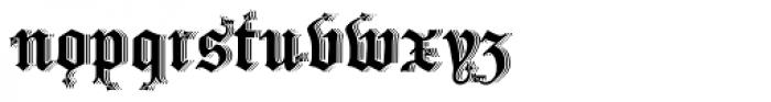 Drago Shadow Font LOWERCASE