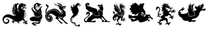 Dragons Font LOWERCASE