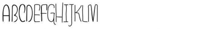 Draw Caps Font UPPERCASE