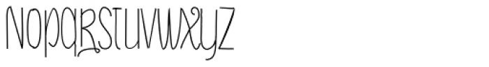 Draw Caps Font LOWERCASE