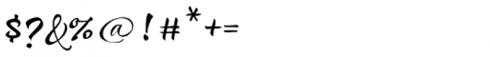 Draw Script Font OTHER CHARS