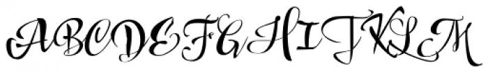 Draw Script Font UPPERCASE