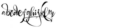 Draw Script Font LOWERCASE