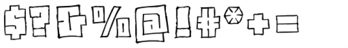 Drawboard BT Font OTHER CHARS