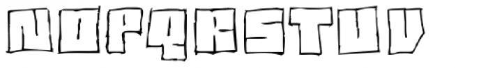 Drawboard BT Font UPPERCASE