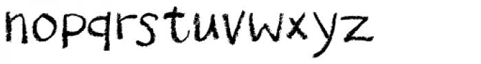 Drawzing Font LOWERCASE