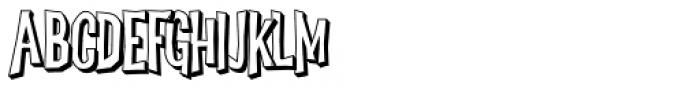 Dreadful Shadow Font UPPERCASE