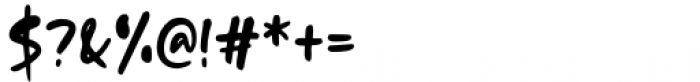 Dream Earth Regular Font OTHER CHARS
