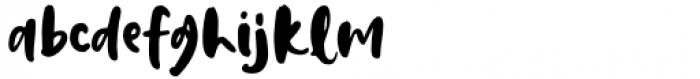 Dream Earth Regular Font LOWERCASE