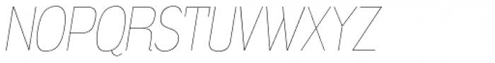 Dream Orphanage UltraLight Italic Font UPPERCASE