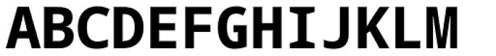 Droid Sans Mono Pro Bold Font UPPERCASE