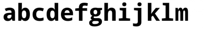 Droid Sans Mono Pro Bold Font LOWERCASE