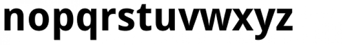 Droid Sans Pro Bold Font LOWERCASE