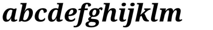 Droid Serif Pro Bold Italic Font LOWERCASE