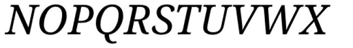 Droid Serif Pro Italic Font UPPERCASE