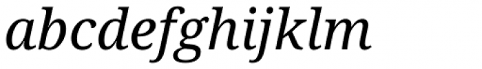 Droid Serif Pro Italic Font LOWERCASE