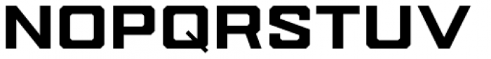 Drone Ranger Pro Extended Black Font LOWERCASE