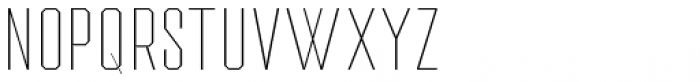 Drone Ranger Pro Thin Font UPPERCASE