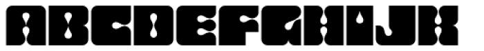 Dropout Font UPPERCASE