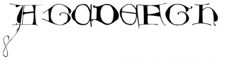 Dropsomaniacal Font UPPERCASE