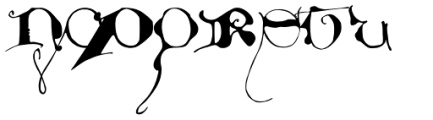 Dropsomaniacal Font LOWERCASE