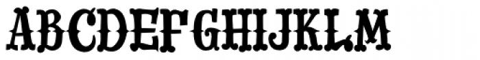 Drunk Cowboy Font UPPERCASE