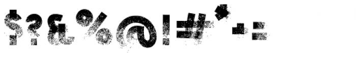 Dry Brush Blocks Regular Font OTHER CHARS