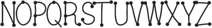 DSDotsaLot ttf (400) Font UPPERCASE