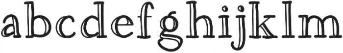 DSQuirkyEngraver ttf (400) Font LOWERCASE