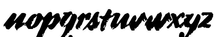 DS BroadBrush Font LOWERCASE