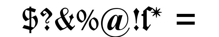DS Caslon Gotisch OsF Font OTHER CHARS