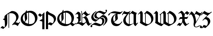 DS Caslon Gotisch OsF Font UPPERCASE