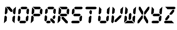 DS-Digital Bold Italic Font UPPERCASE
