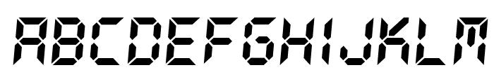 DS-Digital Bold Italic Font LOWERCASE