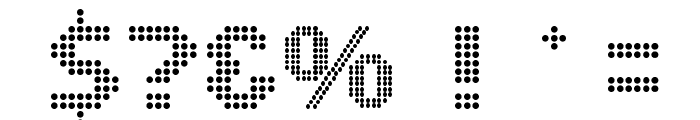 DS Dots Medium Font OTHER CHARS