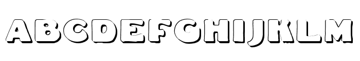 DS Fatty Shadow Font UPPERCASE