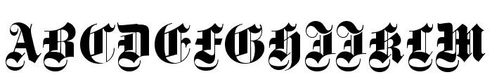 DS Fette Gotisch Font UPPERCASE