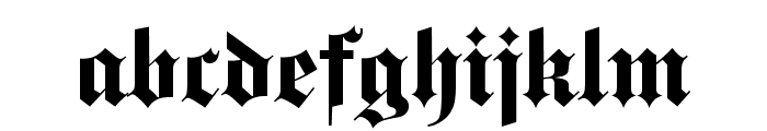 DS Fette Gotisch Font LOWERCASE