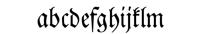 DS Luthersche Font LOWERCASE
