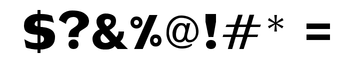 DS-Metropolis Font OTHER CHARS