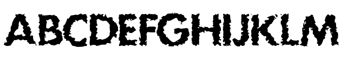 DS Stain Font UPPERCASE