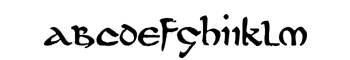 DS UncialFunnyHand Medium Font LOWERCASE
