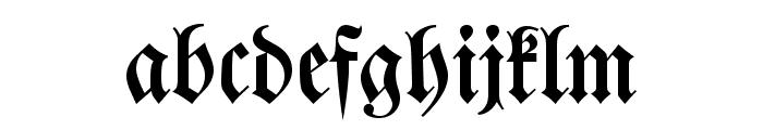 DS Walbaumfraktur Font LOWERCASE