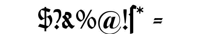 DS Weiss-Gotisch Alt Font OTHER CHARS